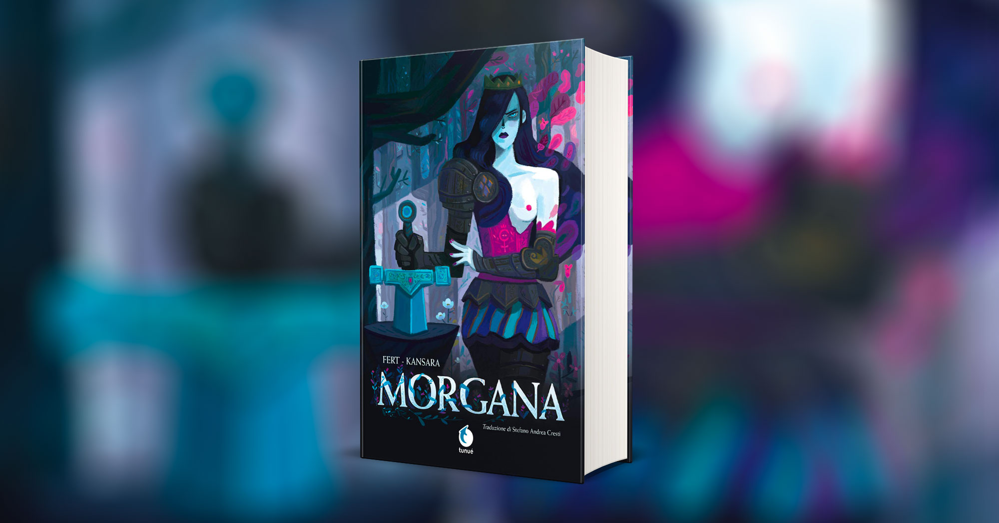 Copertina graphic novel Morgana