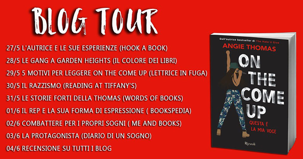 On the come up - Calendario blogtour