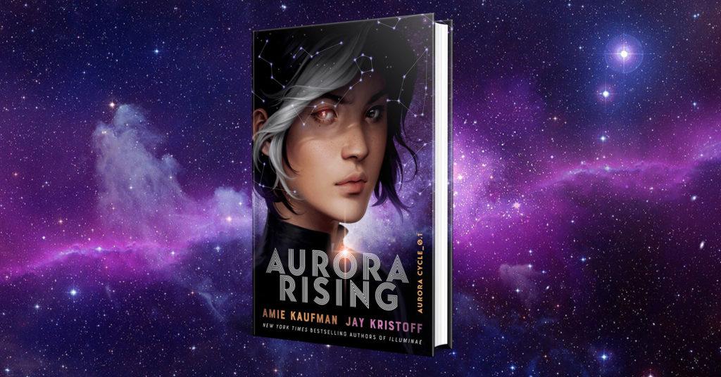 """Copertine dei libri della serie """"Aurora rising""""."""