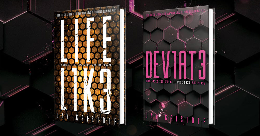 """Copertine dei libri della serie """"Life l1k3""""."""