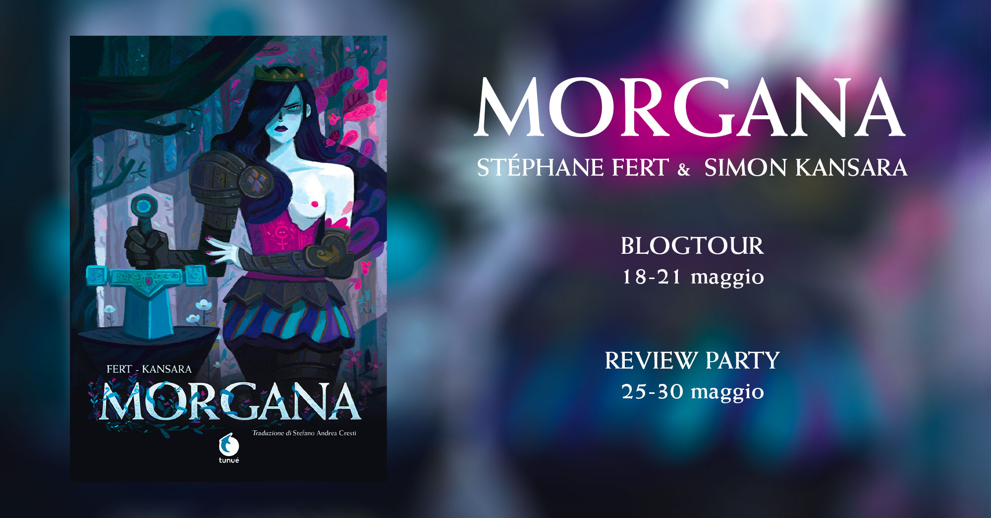 Banner blogtour dedicato alla graphic novel Morgana