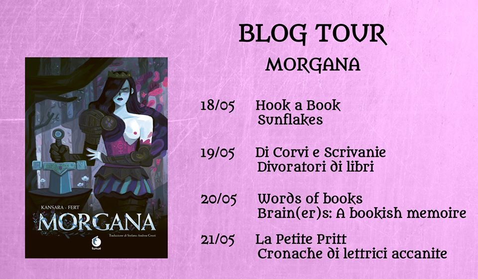 "Calendario del blogtour dedicato alla graphic novel ""Morgana"""