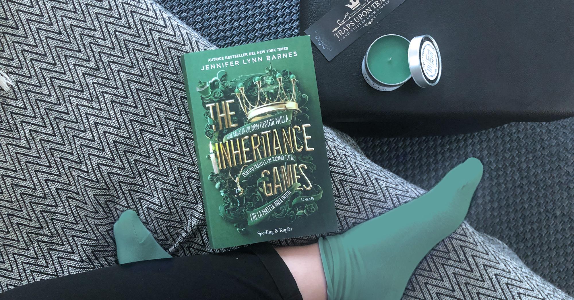 "Top view del libro ""The inheritance games"" di Jennifer Lynn Barnes"